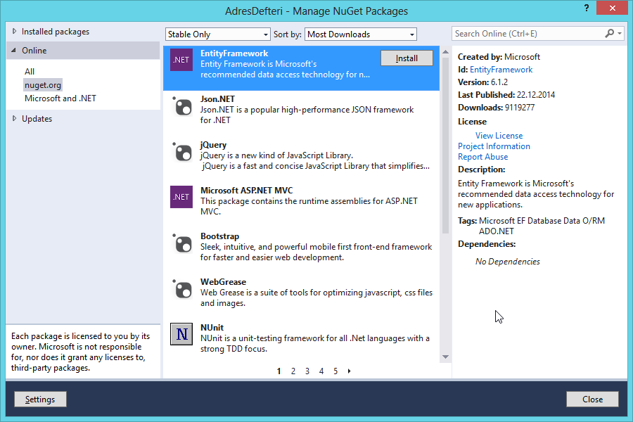 2015-02-14 08_47_22-AdresDefteri - Manage NuGet Packages